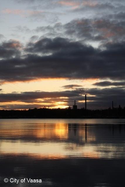 Sunset @ Vaasa. www.visitvaasa.fi.