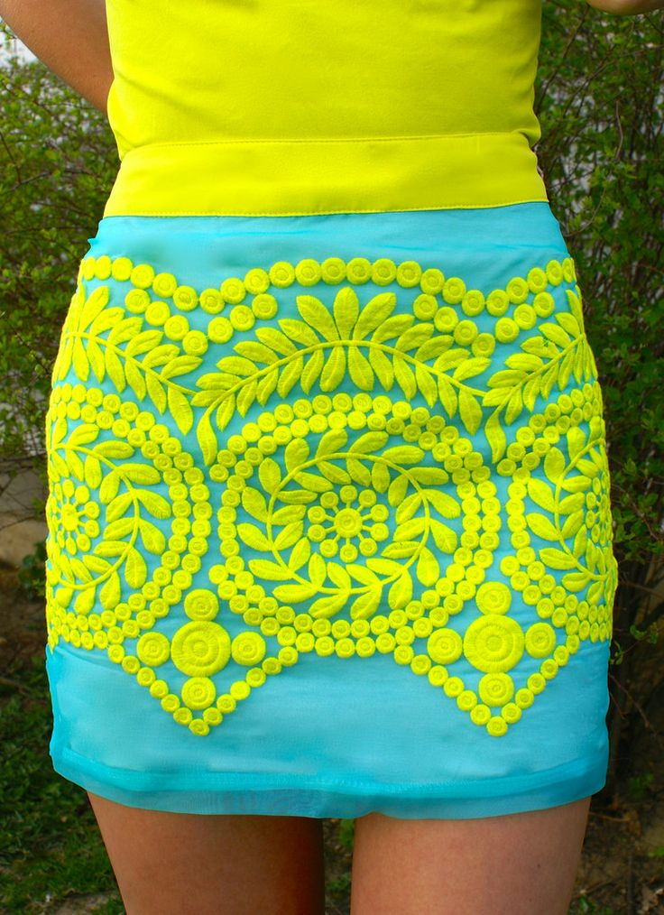Sweet Summertime Skirt: Aqua/Lemon Lime FREE SHIPPING ALWAYS! Sweetie Styles can be found @ www.sweetiestyles.com xoxoxo