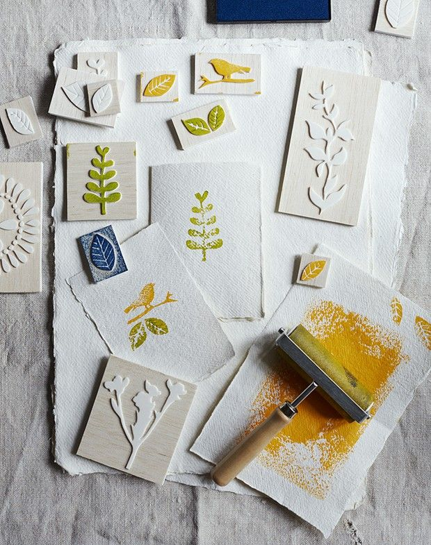 Personalise greetings cards, wrap and gifts with these homemade handmade stamps, a simple craft make project of just three steps http://www.countryliving.co.uk/create/craft/make-your-own-handmade-stamps