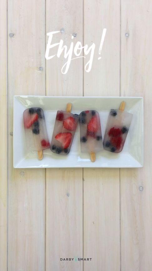 Make Berry Patriotic Pops