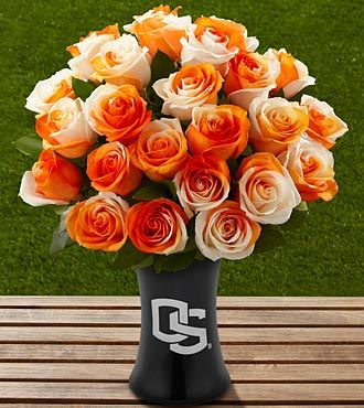 The FTD® Oregon State University® Beavers™ Rose Bouquet - 24 Stems - VASE INCLUDED