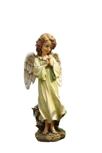 Napco Praying 16-Inch Little Girl Angel Outdoor Decoration by Napco. $45.10. Enhance your lawn, garden, deck or patio with this decorative ornamental statuette. Gently antiqued with soft pastel colors. Made of quality resin for durability and long lasting beauty. 16-inch tall. Praying angel girl created with fine details. Napco has built a uniquely innovative in-house design team. We not only design our own high quality gift and outdoor décor products, but we help other compani...