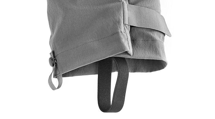 Durchdachter Hosenbeinabschluss gegen Wind und UV - Strahlen.