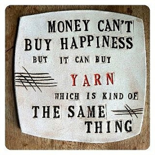 It's exactly the same thing!Crochet Baskets, Funny Crochet, Happy, Crafts Room, Yarns, So True, Crochet Quotes, Fiber Art, Knits