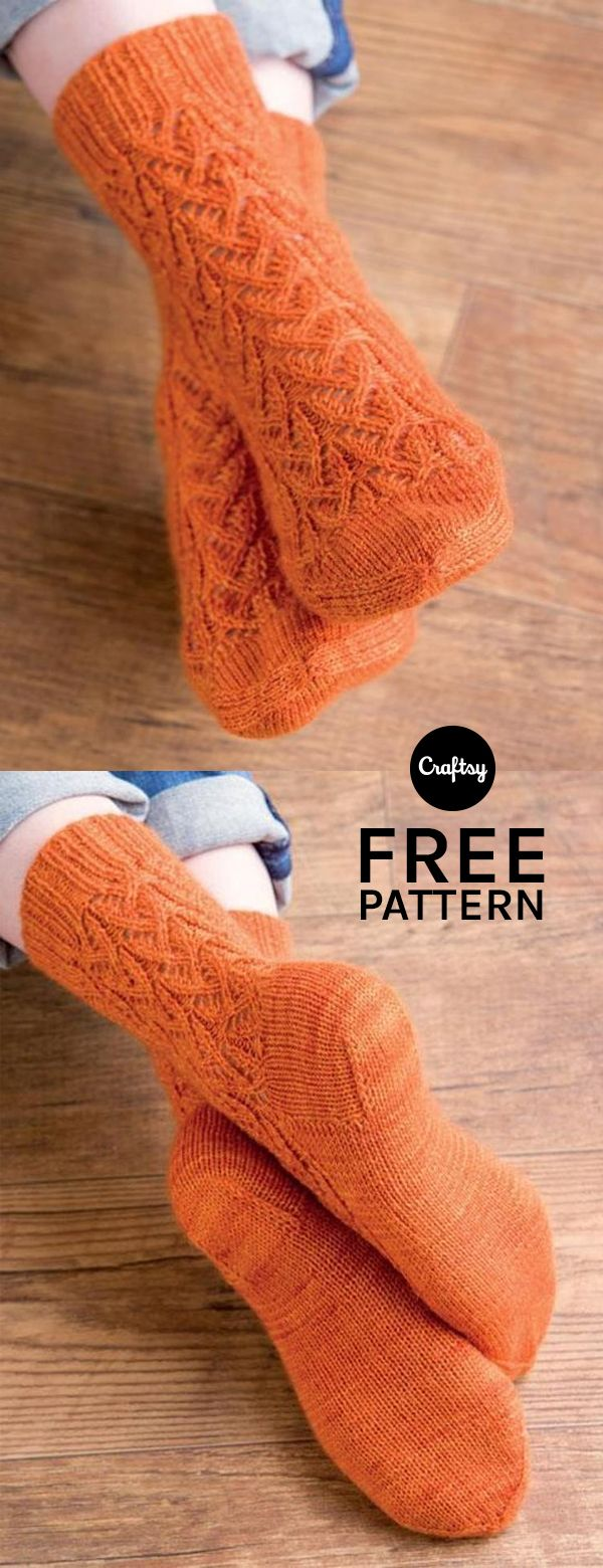 The detailed stitching in the Valencia pattern is what mhttp://claudia.abril.com.br/sua-vida/12-enfeites-de-porta-para-usar-o-ano-todo/#3akes these socks truly eye-catching. Download the pattern for free and knit a pair of your own!