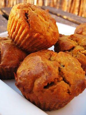 Exquisito Vegetariano!: Muffins de zanahoria, pasas y avellanas
