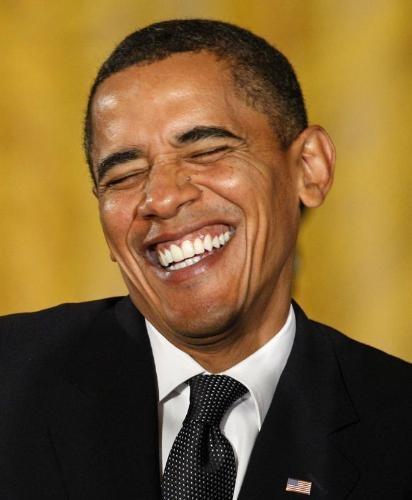 Y usted de que se ríe,Mr.Obama? EH?