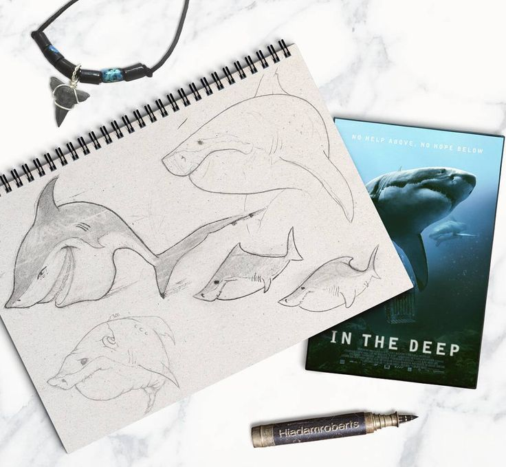 Showing what I never show anyone... My rough sketches   On a side note though a friend sent me this amazing shark film called @47metersdown (in the deep before Entertainment Studios bought the rights and pulled the initial dvd release to go for a theatrical release later this year)...lucky me ;)  Definitely worth a watch for any shark fanatic person out there! - most tense shark film to date   ____________