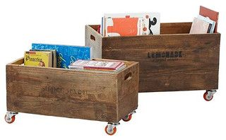 Rolling Storage Crates - traditional - toy storage - by Serena & Lily