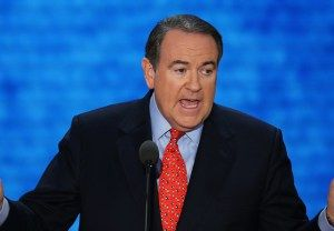 TAMPA, FL - AUGUST 29:  Former Arkansas Gov. Mike Huckabee speaks during the third day of the Republican National Convention at the Tampa Bay Times Forum on August 29, 2012 in Tampa, Florida. Former Massachusetts Gov. Mitt Romney was nominated as the Republican presidential candidate during the RNC, which is scheduled to conclude August 30.  (Photo by Mark Wilson/Getty Images)