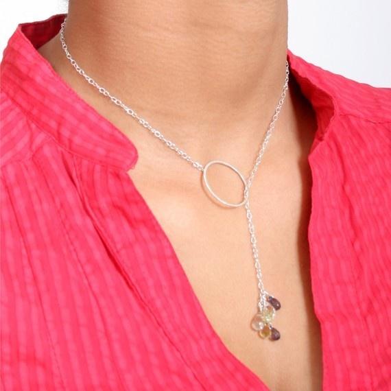 Multi gemstone lariatLemon Quartz, Jewelry Crafts, Lariat Ericaburnsdesign, White, Gemstones Lariat, Cute Necklaces, Multi Gemstones, Fun Jewelry, Lariat Necklaces