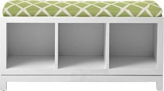 Campaign Storage Bench - White traditional toy storage