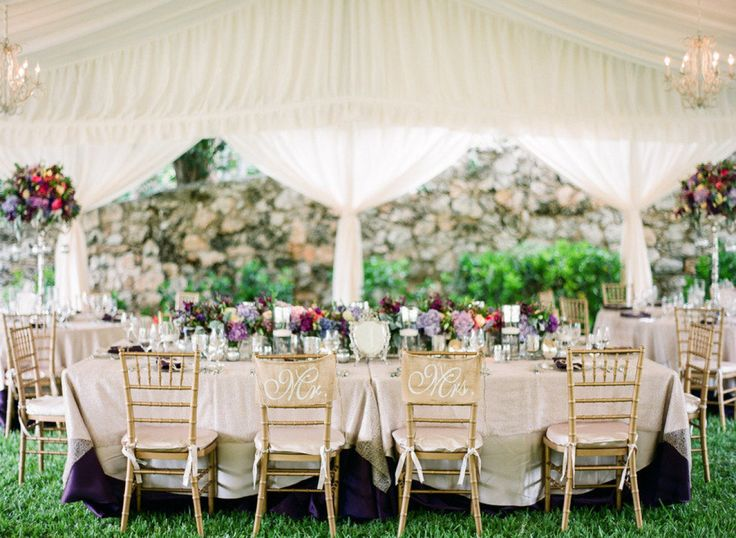 Gold Chiavari Chairs And Tenting Decor At A Destination Wedding In The Bahamas