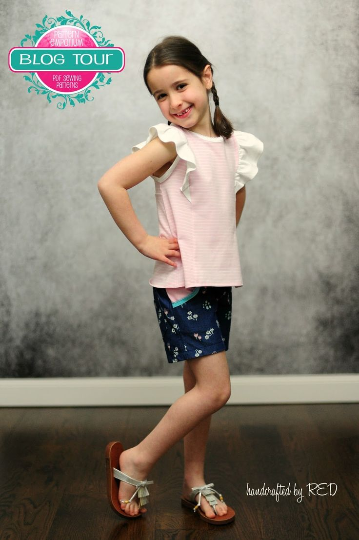 handcrafted by RED - sewing and other crafty adventures: Pattern Emporium Blog Tour: Featuring the Little Honeybuns Shorts