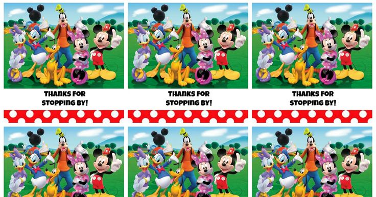 Free Printable Mickey Mouse Clubhouse Favor Tags Thanks
