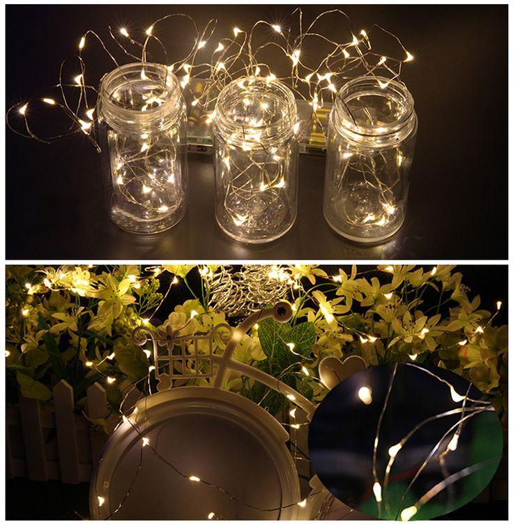 christmas copper string light starry copper string lights string lights led decorative light - Decorative String Lights