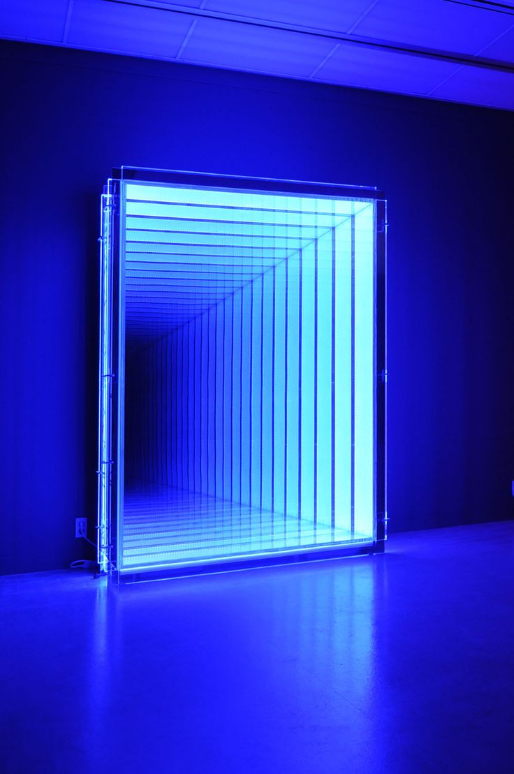 infinity led mirror. baltimore-based artist ahn chulhyun works with fluorescent tube lights, plywood and mirrors to create optical illusions that transcend both time space. infinity led mirror
