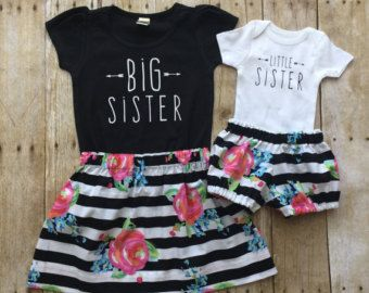 Meisjes grote sis outfit grote zus shirt zusje shirt broer