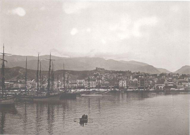 """Πάτρα.  Άποψη της πόλης. Hubert Pernot """"Εξερευνώντας την Ελλάδα. Φωτογραφίες 1898-1913"""""""