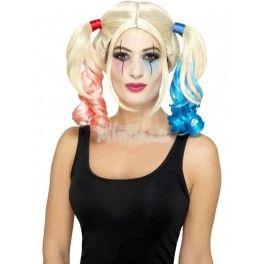 Peluca Harley Quinn - Disfraces Murillo Complementa tu disfraz de Harley Quinn con esta peluca