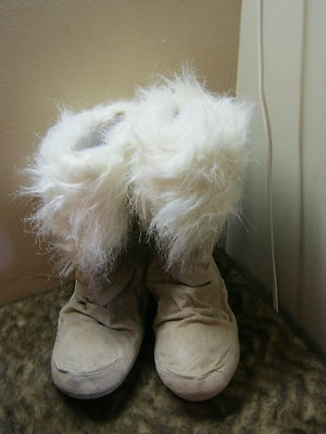 I just can't get enough fuzzy slippers!