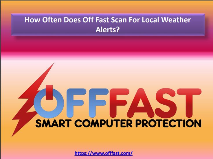 How Often Does Off Fast Scan For Local Weather Alerts?   Every 5 minutes by default so as not to miss any fast-moving storms. Users may adjust the setting from every 3 minutes to every 10 minutes.   https://www.offfast.com  #offfast #computer #protection #software #storms #electrical #problems #surges #outages #hiccups #spike