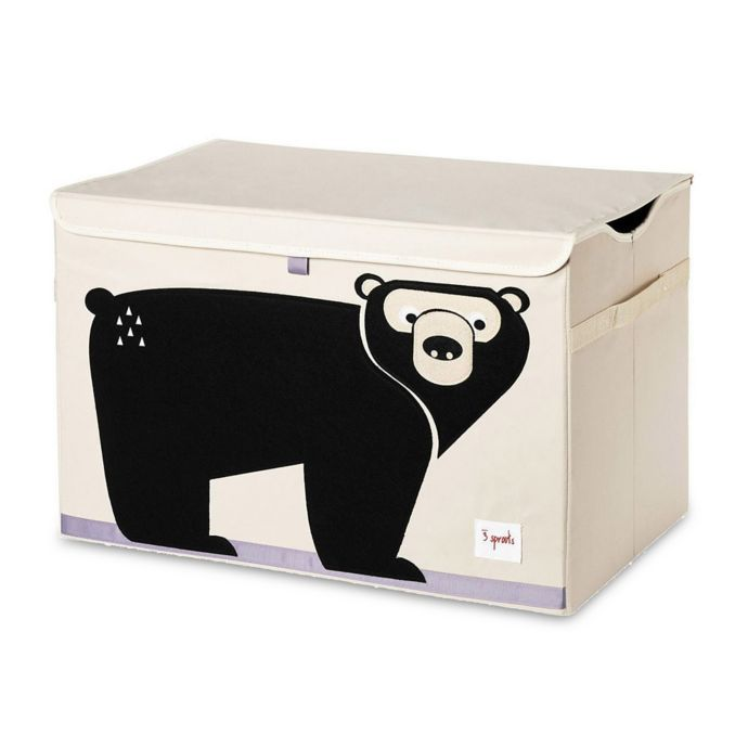 3 Sprouts Bear Toy Chest In Black Bed Bath Beyond Toy Chest