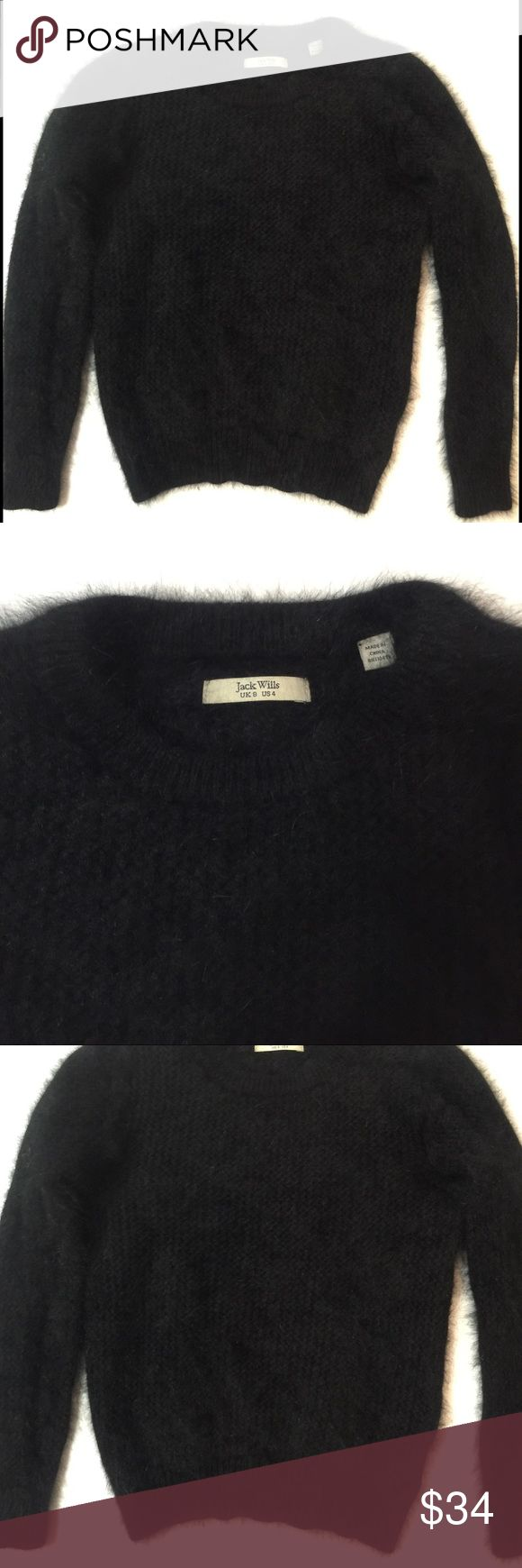 Jack Wills Soft Pulled Angora Sweater Casually chic, soft, fitted sweater. This isn't a wool sweater, but instead an angora and polyamide combo. This can be paired with heels or high boots with jeans or short leather skirt.                                                                         🌟CONDITION: Excellent, no visible flaws or wear, looks almost new Jack Wills Sweaters