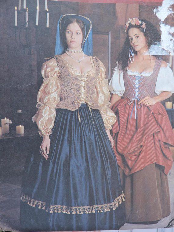 Historic Renaissance Costume Blousse Skirt Overskirt Stage
