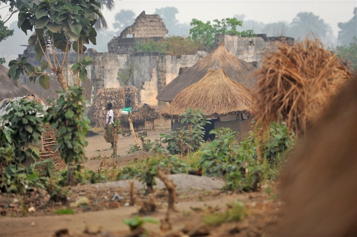 Ngubu IDP camp on the outskirts of Faradje Haut-Uele District in the north east of the Democratic Republic of the Congo