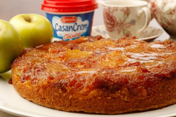 Receta Torta invertida de manzanas de Casancrem