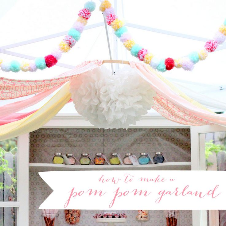 how to make a pom pom garland. Sprinkle party