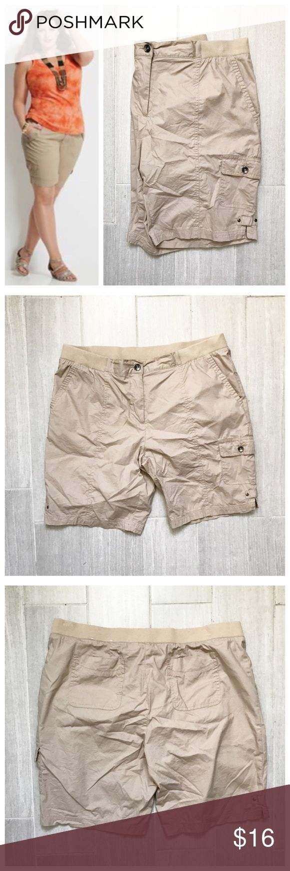 Beige Shorts Beige / tan shorts. Rafaella Sport. Stretch to waist band. Pockets. First photo on left not actual item just showing for style! BUNDLES 20% OFF 🎉 Rafaella Shorts