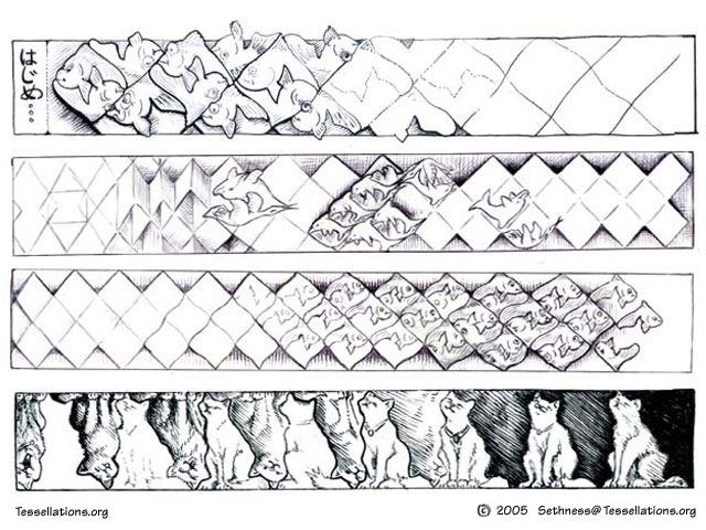 Lengthy Morph Of Tessellations, Escher Style, By Seth Bareiss. Find This  Pin And More On Art Coloring Pages ...