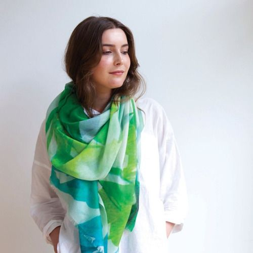 Our new Lisianthus scarf. 100% cashmere! Coming soon for AW15! www.squeakdesign.com