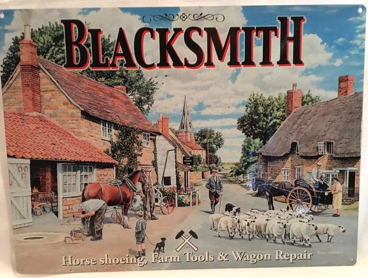 VINTAGE FARM ( BLACKSMITH )  METAL SIGN ~ NEW ~MADE IN THE UK.