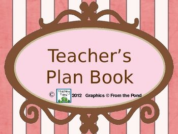 Check out these teacher plan book pages I use!  Just make as many copies as you want of each page, put it in a sectioned binder, and carry it with ...
