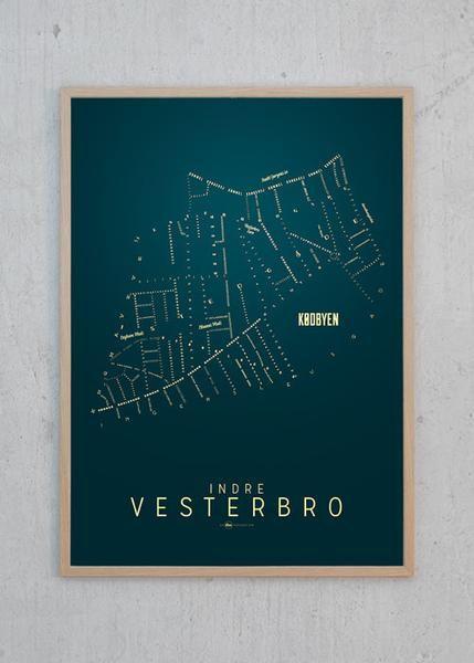 Indre Vesterbro Kort - Nat fra KLAM