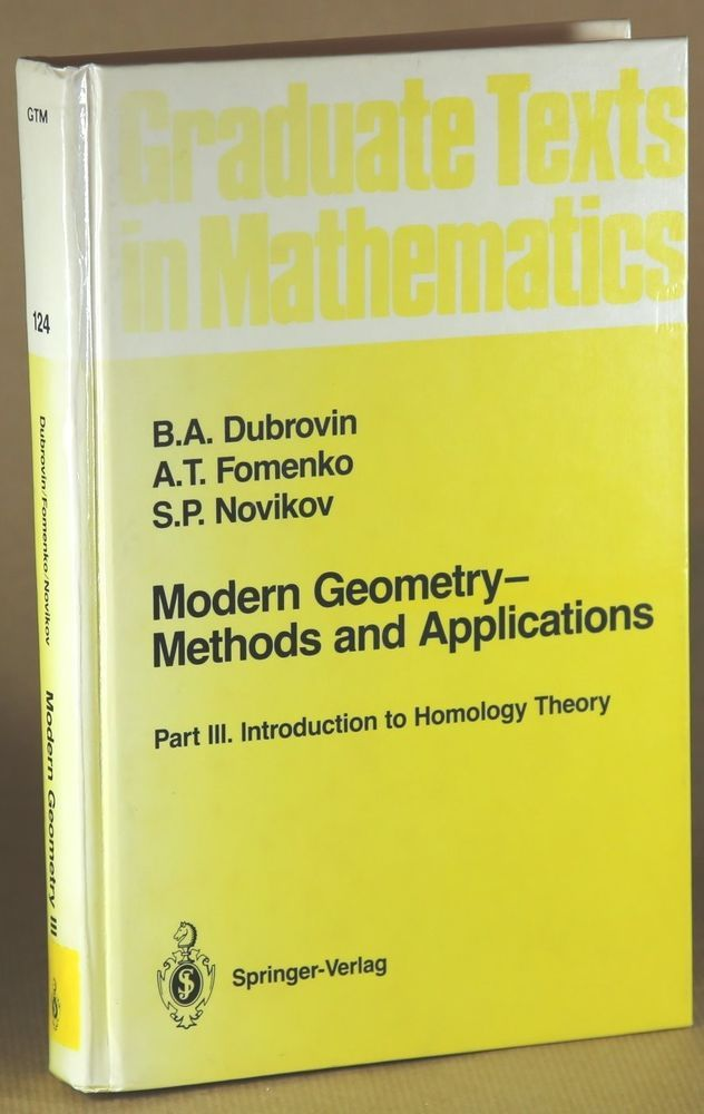 Modern Geometry Methods and Applications  Part III.-Durovin 1990