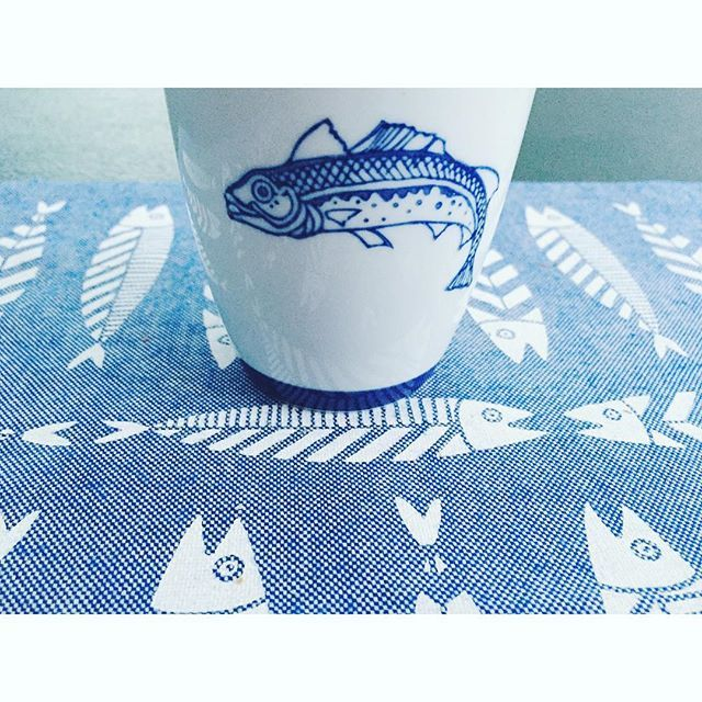 I am made and remade continually. Different people draw different words for me.  #fish #thebluewhite #lazysunday #sea #homedecor #morning #breakfast #illustration #handmade