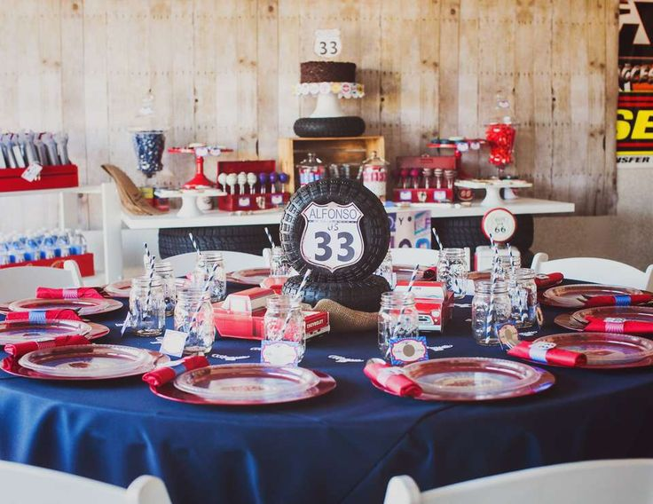 """Cars / Trucks / Birthday """"Alfonso's Vintage Garage Party"""" 