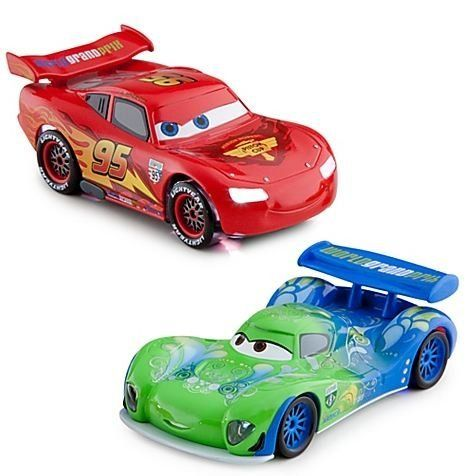 Lightning McQueen vs. Carla Veloso Light-Up Racing Rivals Die Cast Cars Set: Disney Pixar Cars 2 Series by Disney. $22.44. Cars up to 4.5'' long (NOTE: due to the unique design of each car, the size of your car may be different than stated.). Die cast metal. For age 3+. Each car requires 3 x LR41 button cell batteries, included.. Set includes Lightning McQueen and Carla Veloso. The two fierce rivals of Disney/Pixar's Cars 2 battle it out with this Light-Up Racing Ri...