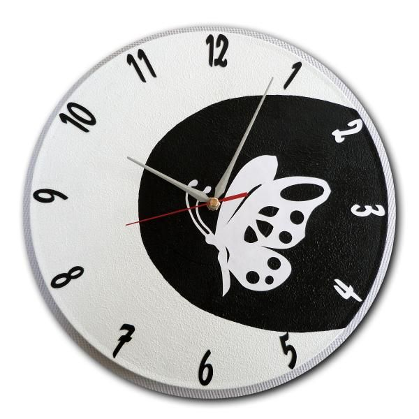 perfect commande horloge papillon dans la lune boutique www with pendule murale papillon. Black Bedroom Furniture Sets. Home Design Ideas