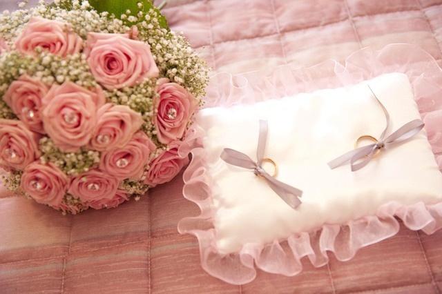 #Bouquet e cuscino porta #fedi
