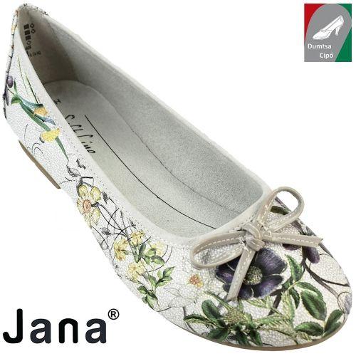 Jana női balerina 8-22164-28 908 virágos kombi