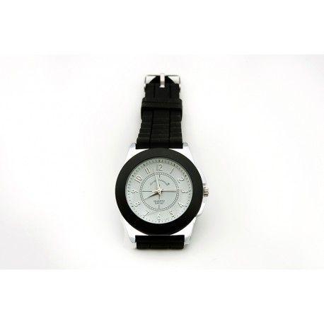 #Reloj esfera blanca para #mujer con correa de caucho!! ¿Cuanto le echas? ¿Para que ocasion lo usarias?   - BisuteriaDeModa.es - BDM -