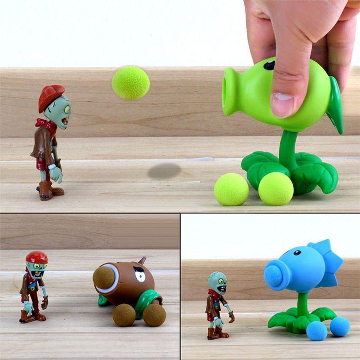 Peashooter PVZ Shooter Son Gokou Educational Toy Safe Game Plant + Zombie + 3 Ball Set-3.66 and Free Shipping  GearBest.com