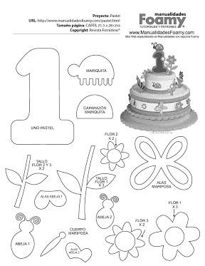 bolo em eva: Cake, Art, Crafts, Ems, Em Eva