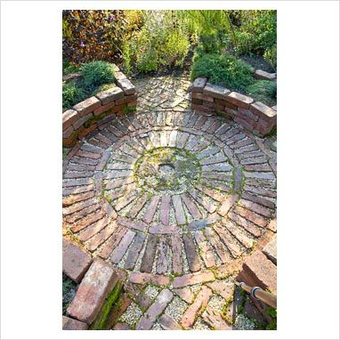 GAP Photos - Circular brick patio