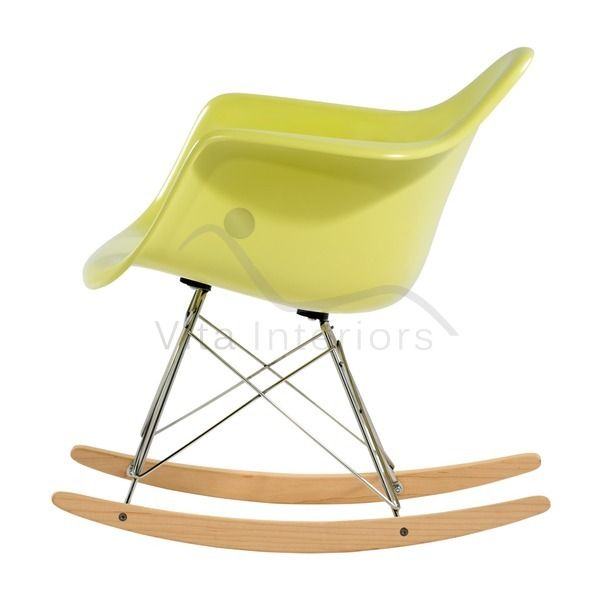 - Vita InteriorsClearance Sale > Charles Eames Style Fibreglass Rocking Chair - WHITE - Clearance